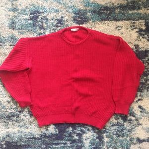 American Apparel Made in USA red fisherman sweater